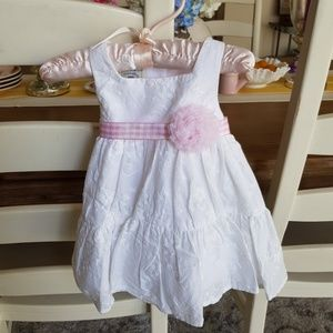 Easter girls white pink dress 3m 6m